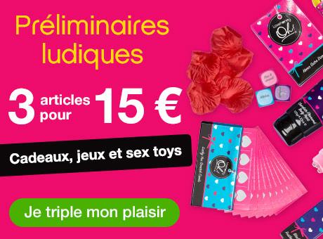Promo 3 articles pour 15 €