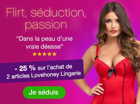 Promo lingerie sexy - 25 % de réduc sur l'achat de 2