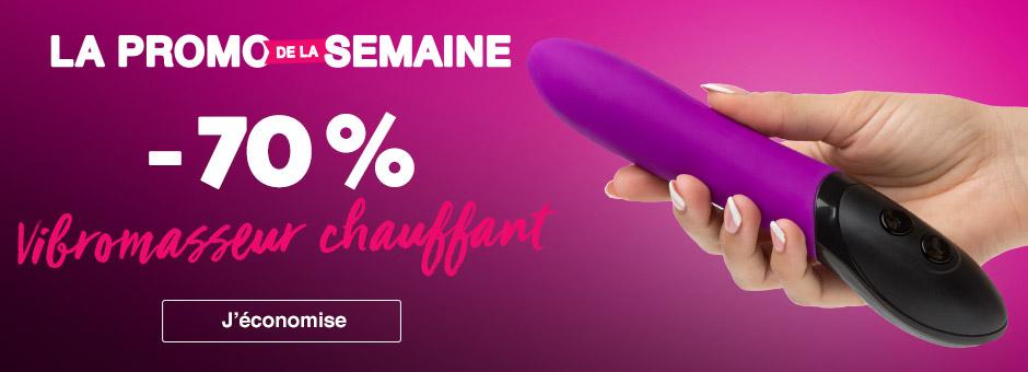 Promo de la semaine Lovehoney sex toys vibromasseur chauffant