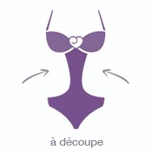 lingerie guide body à découpe