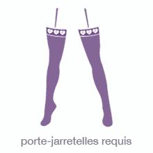 Guide lingerie bas porte-jarretelles requis