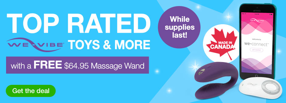 Top-rated We-Vibe Toys and more with a FREE Massage Wand