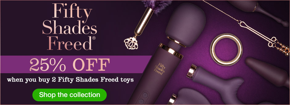 Unlock Your Pleasure: 25% off when you buy 2 Fifty Shades Freed toys