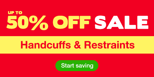 Up to 50% off sale on handcuffs and restraints