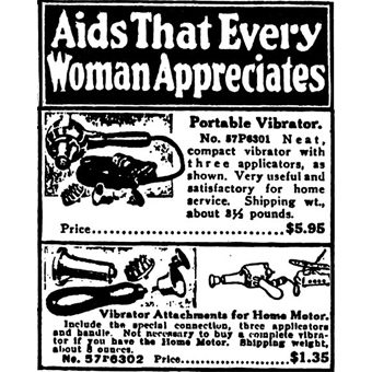 Vibrator as advertised in the 1918 Sears Catalogue