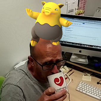 Drowzee on Nick's Head
