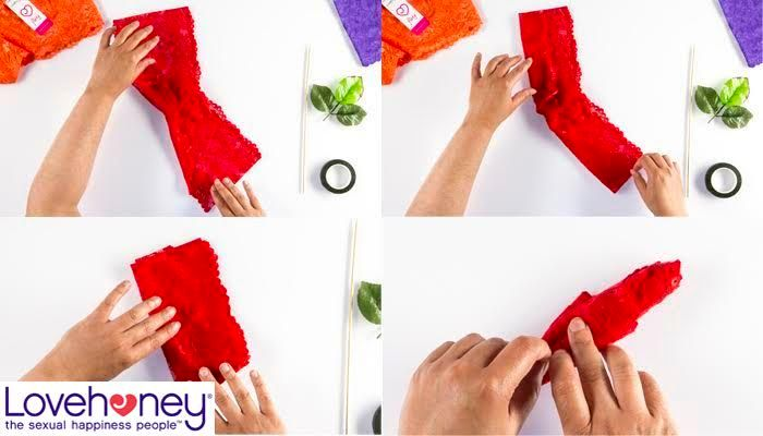How to make roses out of lacy knickers