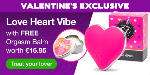 ^ Love Heart Vibe with FREE Orgasm Balm