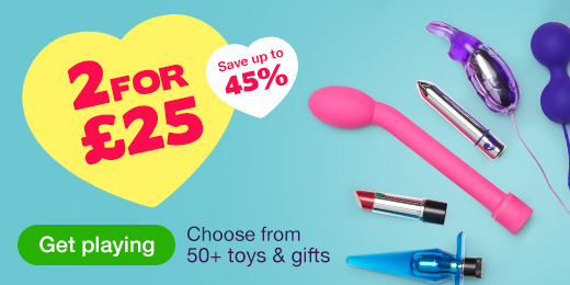 ^ 2 for 25 on Toys and Gifts
