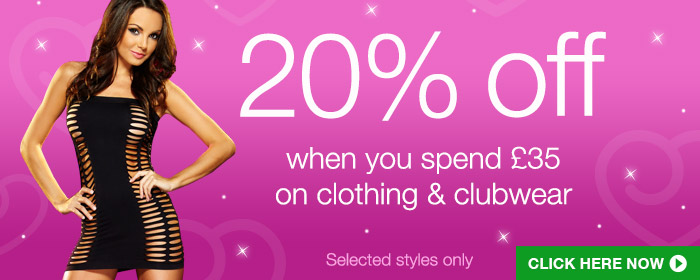 20% off clothing and clubwear