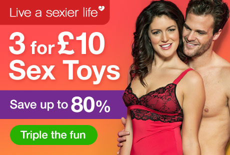 Triple your fun this week with 3 for 10 Sex Toys!