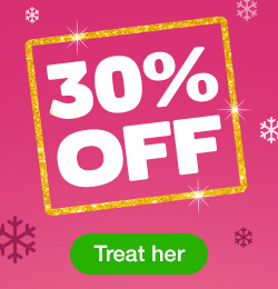 30% off toys for her
