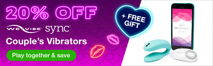20% off We-Vibe Sync and Free Gift