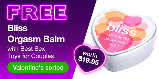 ^ Free Bliss Balm with Couples Toys AU Valentines
