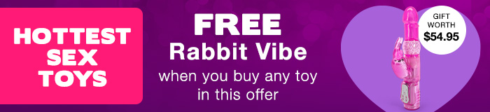 Free Rabbit Vibrator with the Hottest Sex Toys
