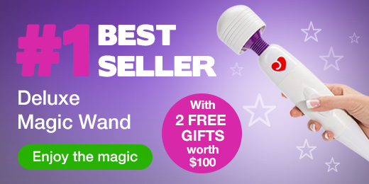 ^ Lovehoney Deluxe Magic Wand with 2 FREE Gifts