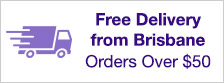 Free Delivery from Brisbane on orders over $50