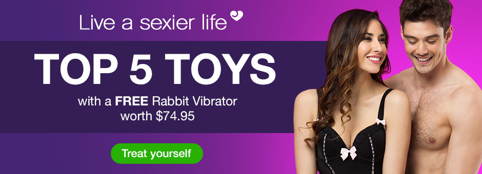 Top 5 Sex Toys with a FREE $74.95 Rabbit Vibrator