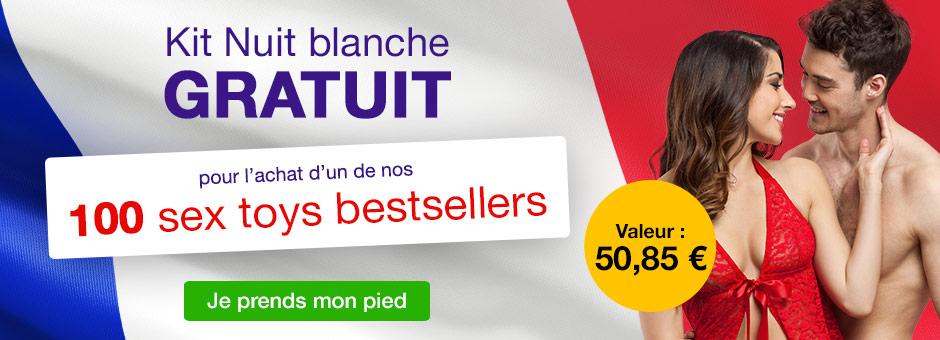 Kit Nuit blanche GRATUIT pour l'achat d'un de nos 100 sex toys bestsellers