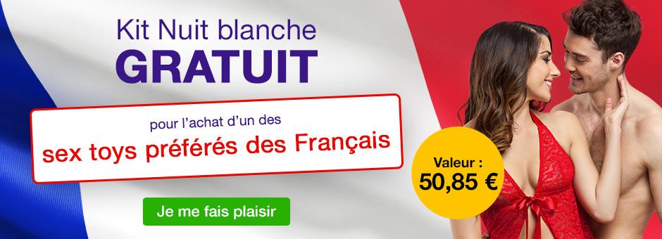 Kit Nuit blanche GRATUIT - les sex toys préférés des Français