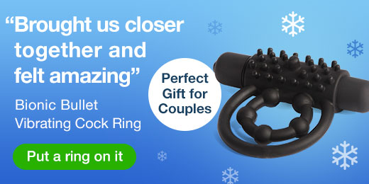 ^ Lovehoney Bionic Bullet Vibrating Cock Ring - Perfect gift for couples