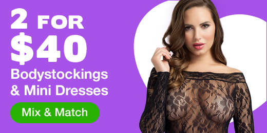 2 for $40 Bodystockings and Mini Dresses