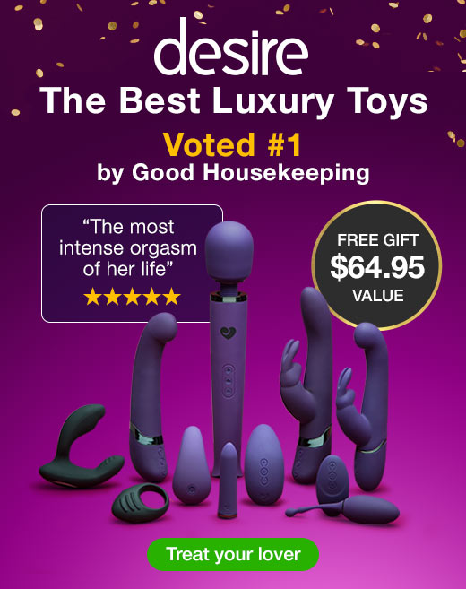 Desire luxury sex toys with a FREE vibrating love egg
