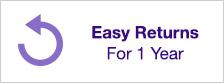 Easy Returns For 1 Year