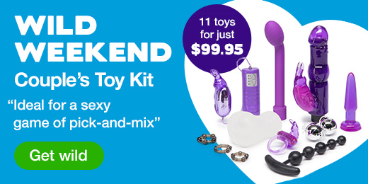 ^ Lovehoney Wild Weekend Couple's Sex Toy Kit