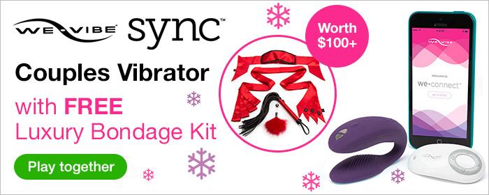 ^FREE Luxury Bondage Kit with We-Vibe Sync