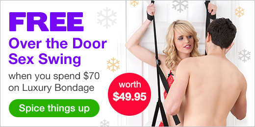 FREE over the door sex swing with $70 lux bondage CA