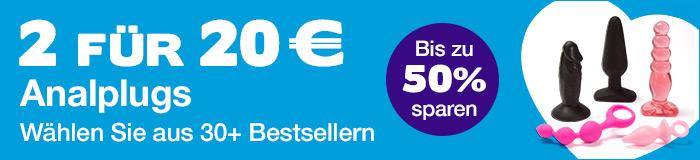 ^ 2 Analplugs für 20€ - Wählen Sie aus über 30 Bestsellern