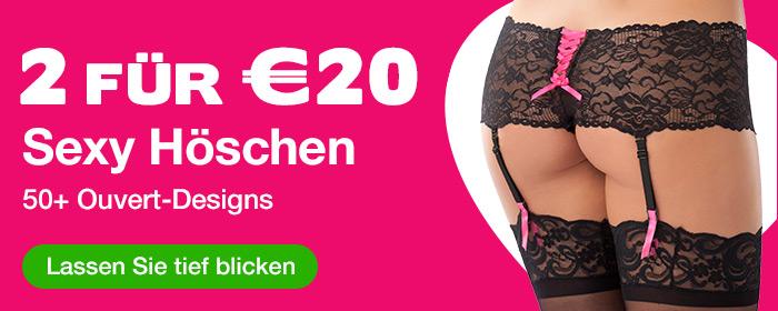 2 für €20 Sexy Höschen