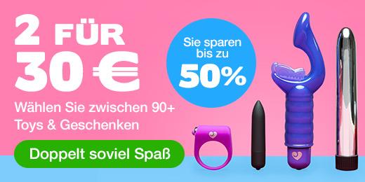 ^2 für 30 €  Wählen Sie zwischen 90+ Toys  Geschenken