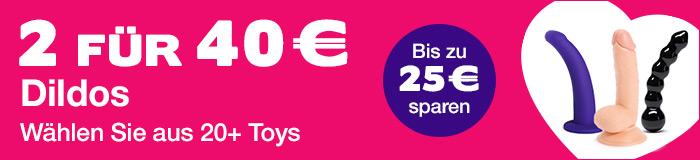 ^ 2 Dildos für 40€ - Bis zu 25€ sparen