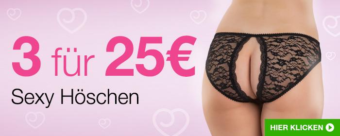 Sexy Höschen Angebot 3 für 25 €