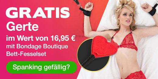 GRATIS Gerte im Wert von 16,95 € mit Bondage Boutique Bett-Fesselset