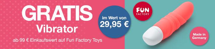 GRATIS Vibrator ab 99 Einkaufswert auf Fun Factory Toys