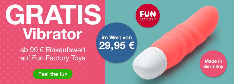 GRATIS G-Punkt-Vibrator ab 99 Einkaufswert auf Fun Factory Toys