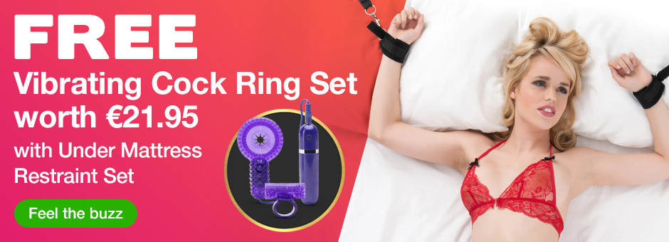 FREE Cock Ring Set with Under Mattress Restraint Set