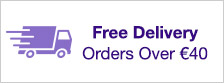 Free Delivery from on orders over €40