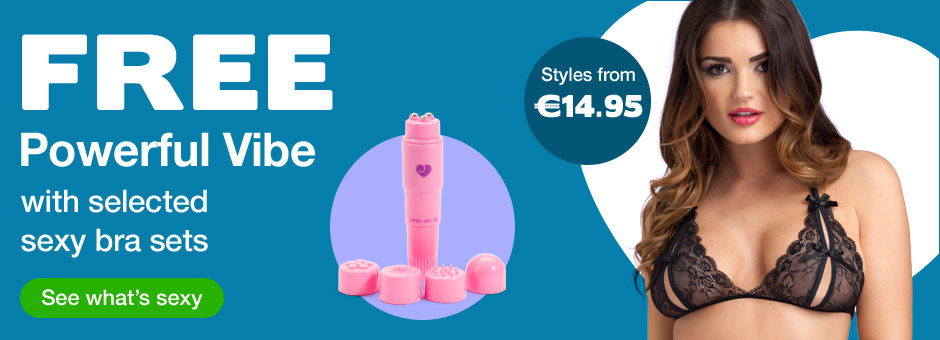 FREE Powerful Vibrator with selected sexy bra sets