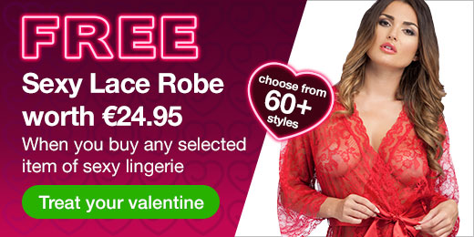 Free sexy lace robe worth €24.95 when you buy any selected items of sexy lingerie