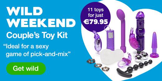 ^ Lovehoney Wild Weekend Couple's Sex Toy Kit