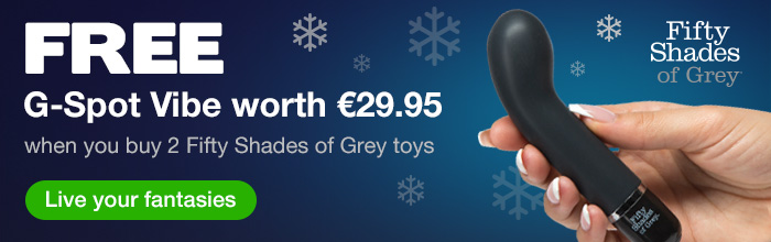 ^ FREE G-Spot Vibe when you buy 2 Fifty Shades of Grey toys