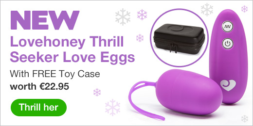 ^ New Lovehoney Thrill Seeker Love Eggs with FREE Toy case EU