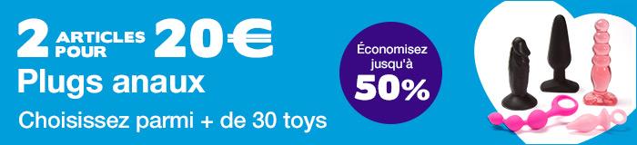 ^ 2 plugs anaux pour 20€ - Choisissez parmi + de 30 toys