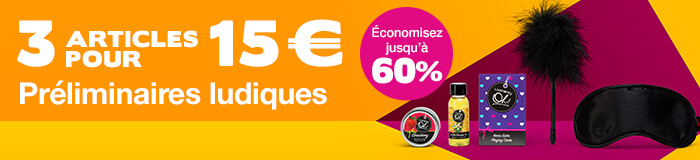 3 articles pour 15€ préliminaires ludiques