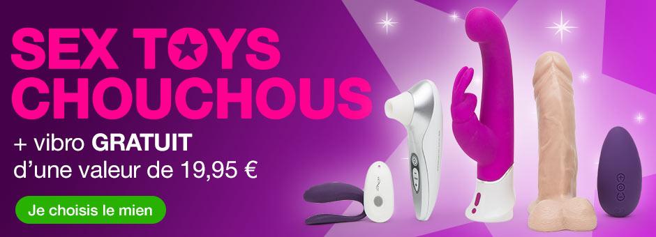 Sex toys chouchous + vibro GRATUIT d'une valeur de 32,95 €