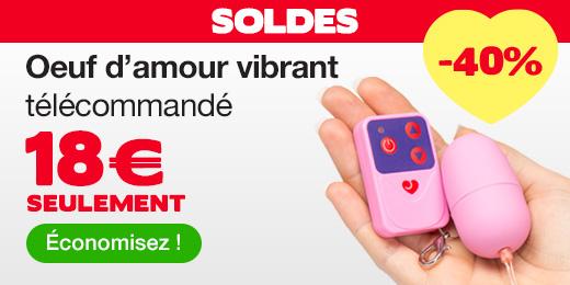 ^ SOLDES Oeuf d'amour vibrant télécommandé